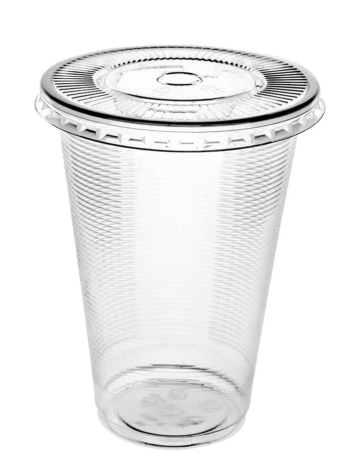 PP - AO500 Clear cup with flat lid